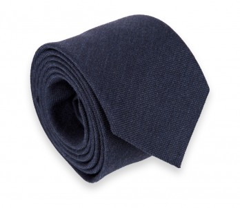 Navy Wool and Silk Tie - Brisbane II