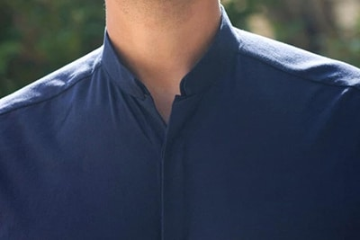 chemise col inverse flanelle